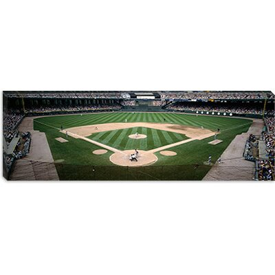 iCanvasArt Baseball Match at U.S. Cellular Field in Chicago, Illinois Canvas Wall Art