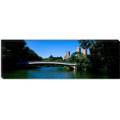 iCanvasArt Bridge Over a Lake, Bow Bridge, Manhattan, NYC, New York City Canvas Wall Art ...