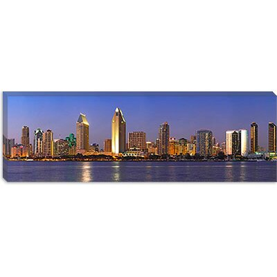 iCanvasArt Buildings at the Waterfront, San Diego, California 2010 Canvas Wall Art