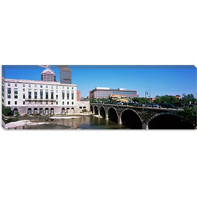 iCanvasArt Arch bridge across the Genesee River, Rochester, Monroe County, New York State ...