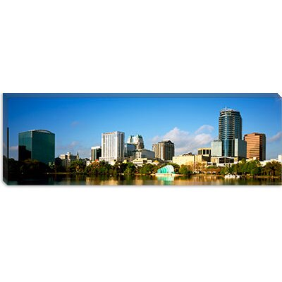 iCanvasArt Buildings at the Waterfront, Lake Eola, Orlando, Orange County, Florida, 2010 Canvas ...