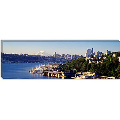iCanvasArt Buildings at the Waterfront, Lake Union, Seattle, Washington State, 2010 Canvas Wall Art