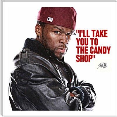 iCanvasArt 50 Cent Quote Canvas Wall Art