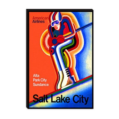 iCanvasArt American Airlines (Salt Lake City) Advertising Vintage Poster