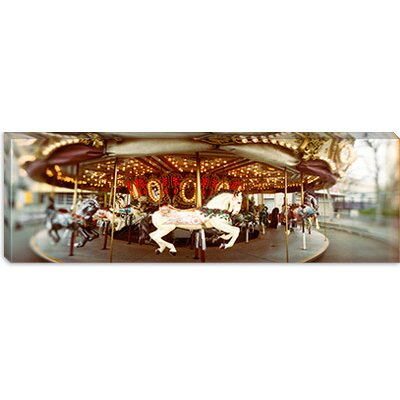 iCanvasArt Carousel Horses in an Amusement Park, Seattle Center Canvas Wall Art