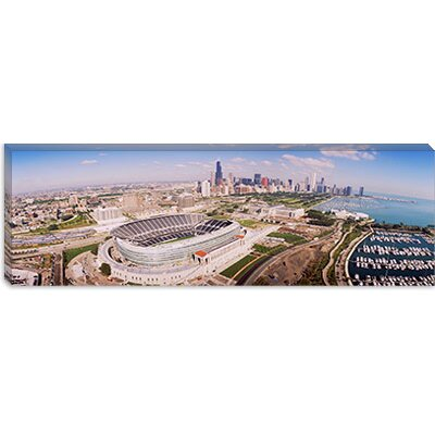 iCanvasArt Aerial View of a Stadium, Soldier Field, Chicago, Illinois Canvas Wall Art
