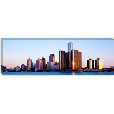 iCanvasArt Morning, Detroit, Michigan Canvas Wall Art