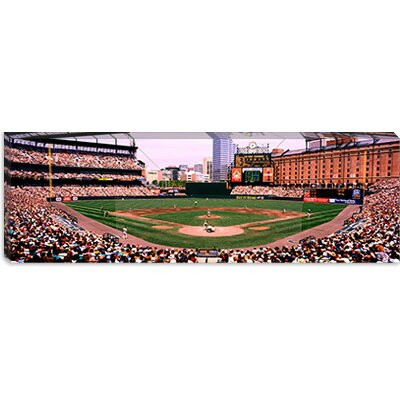 iCanvasArt High Angle View of a Baseball Field, Baltimore, Maryland Canvas Wall Art