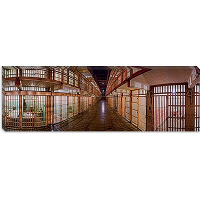 iCanvasArt Corridor of a Prison, Alcatraz Island, San Francisco, California Canvas Wall Art