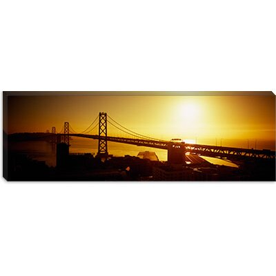 iCanvasArt Sunset Bay Bridge, San Francisco, California Canvas Wall Art
