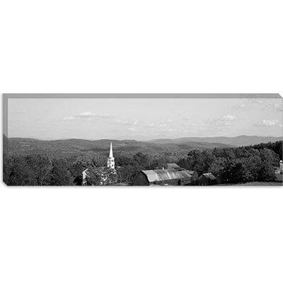 iCanvasArt High Angle View of Barns in a Field, Peacham, Vermont Canvas Wall Art