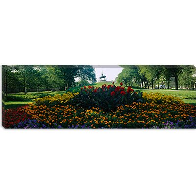 iCanvasArt Flowers in a Park, Grant Park, Chicago, Cook County, Illinois Canvas Wall Art