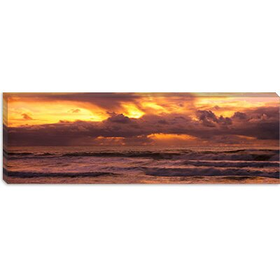 iCanvasArt Clouds over the Ocean, Pacific Ocean, California Canvas Wall Art