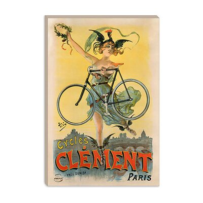 iCanvasArt Cycles Clement Paris Advertising Vintage Poster