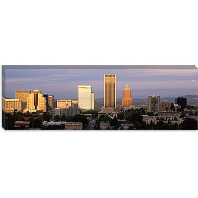 iCanvasArt Cityscape at Sunset, Portland, Multnomah County, Oregon Canvas Wall Art