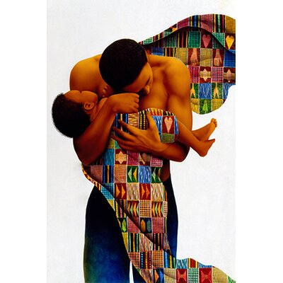 "iCanvasArt ""Sheltering Love"" Canvas Wall Art by Keith Mallett"