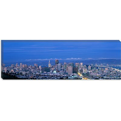 iCanvasArt San Francisco Cityscape upper Market California Canvas Wall Art