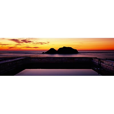 iCanvasArt Silhouette of Islands in the Ocean, Sutro Baths, San Francisco, California Canvas ...