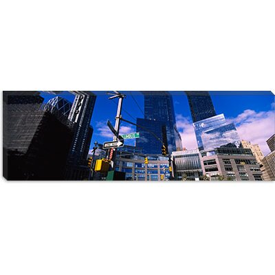 iCanvasArt Columbus Circle, New York City, Manhattan Canvas Wall Art