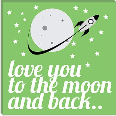 iCanvasArt Love You to the Moon and Back Canvas Wall Art