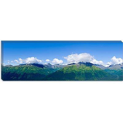 iCanvasArt Mountain Range, Chugach Mountains, Anchorage, Alaska, USA Canvas Wall Art