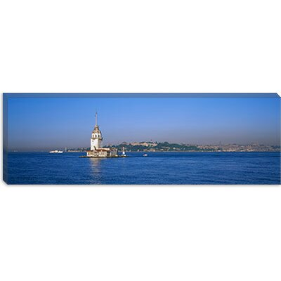 iCanvasArt Leander's Tower and Blue Mosque, Istanbul, Turkey Canvas Wall Art