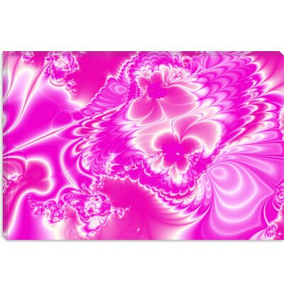 iCanvasArt Pink Possession Canvas Wall Art