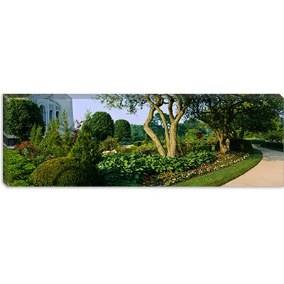 iCanvasArt Bahai Temple Gardens, Bahai House of Worship, Chicago Illinois Canvas Wall Art
