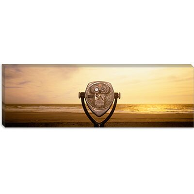 iCanvasArt Mechanical Viewer, Pacific Ocean, California Canvas Wall Art