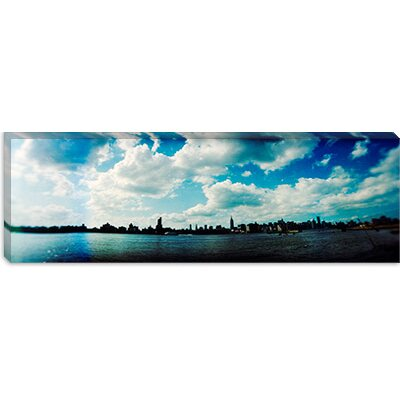 iCanvasArt Manhattan Skyline Viewed from East River Park, Brooklyn, New York Cancas Wall Art