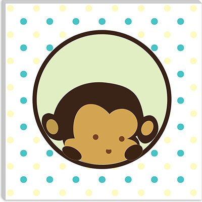 iCanvasArt Monkey Face Spots Canvas Wall Art