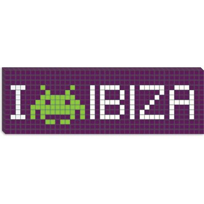 iCanvasArt Space Invader - I Invade Ibiza Tile Art Canvas Wall Art