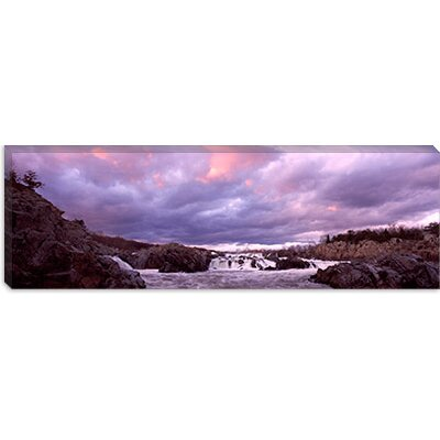 iCanvasArt Great Falls National Park, Potomac River, Washington, D.C, Virginia Canvas Wall Art