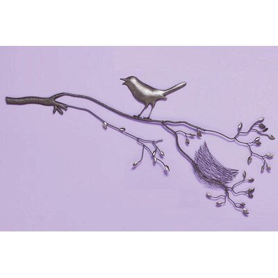 Cape Craftsmen Bird with Nest on Branch Wall Decor
