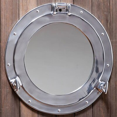 "<strong>Cape Craftsmen</strong> Porthole 15.25"" H x 15.25"" W Wall Mirror"