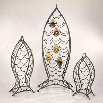 Cape Craftsmen Nested Fish 34 Bottle Wine Rack (Set of 3)