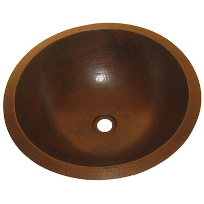 Caracas Undermount Copper Bathroom Sink - TCU-001AN