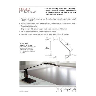"""Blackjack Lighting Edge2 LED 29"""" H Table Lamp"""