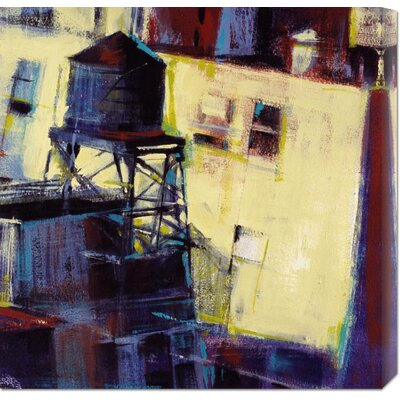Global Gallery 'Terrace Watertower' by Patti Mollica Stretched Canvas Art