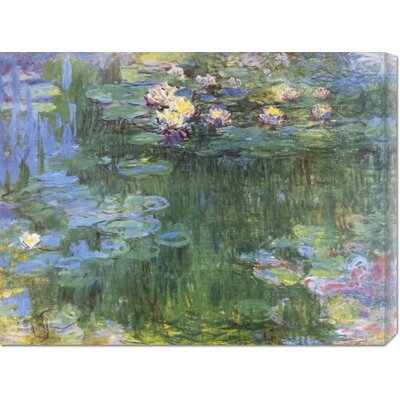 Bentley Global Arts 'Waterlilies 1916 (3)' by Claude Monet Stretched Canvas Art