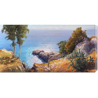 'Orizzonte Mediterraneo' by Adriano Galasso Stretched Canvas Art