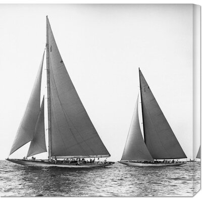 'Sailboats in the America's Cup, 1934' by Edwin Levick Stretched Canvas Art