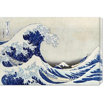 'The Great Wave of Kanagawa' by Hokusai Stretched Canvas Art