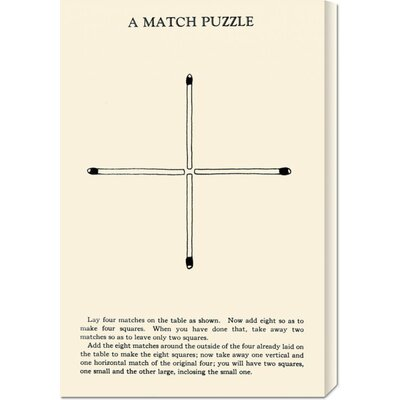 Global Gallery 'A Match Puzzle' by Retromagic Stretched Canvas Art