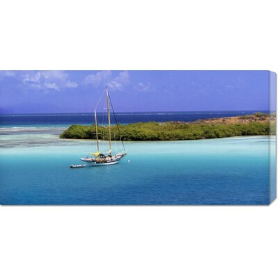 'Sailboat at Anchor, Island of Culebra, Puerto Rico' by George H.H. Huey Stretched Canvas Art ...