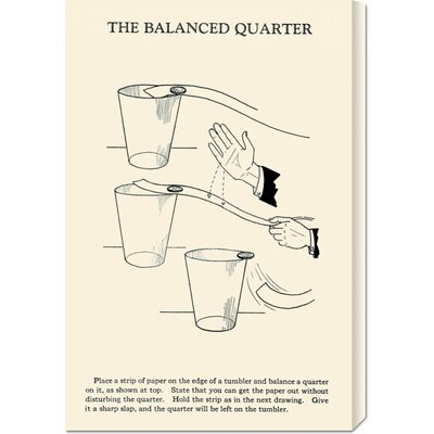 Global Gallery 'The Balanced Quarter' by Retromagic Stretched Canvas Art