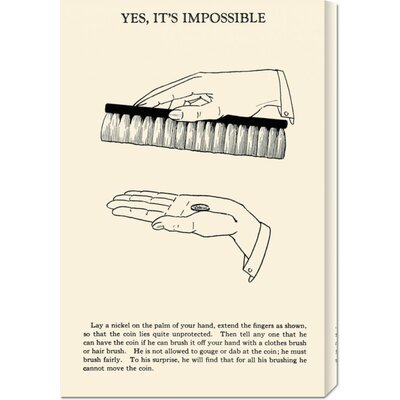 Global Gallery 'Yes, It's Impossible' by Retromagic Stretched Canvas Art