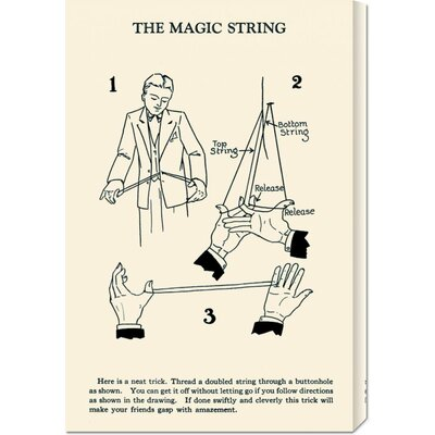 Global Gallery 'The Magic String' by Retromagic Stretched Canvas Art
