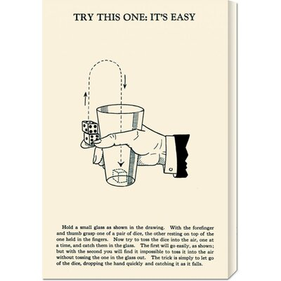 Global Gallery 'Try This One: It's Easy' by Retromagic Stretched Canvas Art