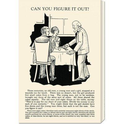 Global Gallery 'Can You Figure it Out' by Retromagic Stretched Canvas Art